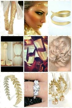 """My stylist chose to go with a luxurious """"greek goddess"""" theme. Being from district one, we are a rich, luxurious district, always wanting the best. Purest gold, softest hair, shiniest rings. Even the most bubbly champagne. Dont forget the most professional makeup. When i ride in on that chariot, im riding in style."""