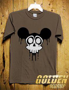 Mickey Skull Men TShirt  Mickey Mouse TShirt Skull by GoldenMurup, $16.98