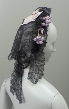 Chantilly Lace Cap, French, 1850-1870.