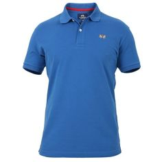 La Martina La Martina Men's Blue Cotton Polo Shirt | Bluefly.Com (455 BRL) ❤ liked on Polyvore featuring men's fashion, men's clothing, men's shirts, men's polos, blue, mens blue polo shirts, mens polo shirts and mens blue shirt