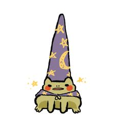 "rosarrie: ""toadbert the wizard "" Pretty Art, Cute Art, Cute Drawings, Animal Drawings, Arte Indie, Character Art, Character Design, Frog Art, Cute Frogs"