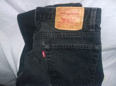 Levi's 505 Straight Fit Denim Black Jeans Mens Size 36x30 100% Cotton Zipper Fly #Levis #ClassicStraightLeg