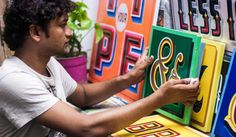 HandpaintedType is reinvigorating Delhi's sign-painters with a new life online Sign Writer, Life Online, Signwriting, Cool Typography, Paint Types, Handmade Signs, Hand Painted Signs, New Life, Color Combos