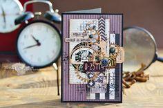 Магия Творчества: Мужская открытка Scrapbook Albums, Scrapbooking, Beautiful Handmade Cards, Card Maker, Masculine Cards, Mixed Media, Photo Wall, Paper Crafts, Creative