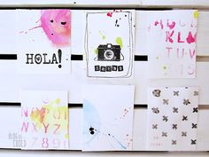 handmade Project Life cards by 'blog de coses'