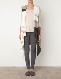 Striped poncho blanket - Foulards and Scarves - Accessories - United Kingdom