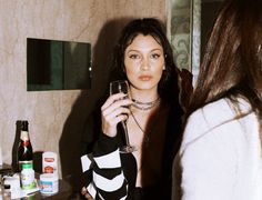 """Bella Hadid getting ready for the Chrome Hearts x Bella event by Renell Medrano """