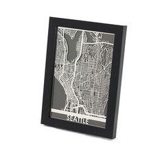 Cut maps of cities. Cool idea.