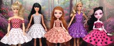 Free Printable Doll Clothes Sample Dresses