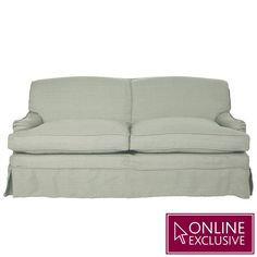 A very generously sized sofa in the classic English country home style, with a traditional profile featuring low, curved arms and a well-sprung curved back. It comes loose-covered in 100% linen (Ink Blue, Denim Blue and Eau de Nil are new this season) with generous seat cushions, making this a sofa that is not only comfortable, but also practical. All of our sofas above a 2-seater size break down into two parts for ease of movement and installation. When assembling simply bolt the two…