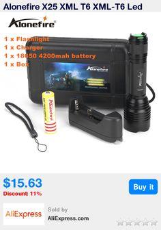 Alonefire X25 XML T6 XML-T6 Led Flashlight Linterna Torch Light Hunting Flash Light +18650+Battery Charger * Pub Date: 03:43 Jul 15 2017