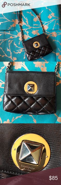 ea7ab1b76b KATE SPADE ASTOR QUILTED Kate spade black astor cynthia court quilted used  veru good conditions there
