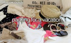 packing is my obsession and I start packing about 1 week before the vacation. I start mentally packing about 6 months before.