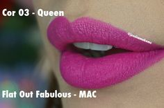 Jessica Make: Resenha: Batom Queen Makeup Matte - Dupes da MAC