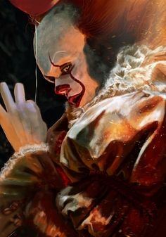 This is beautiful and terrifying at the same time! Clown Horror, Arte Horror, Horror Art, Le Clown, Creepy Clown, Classic Horror Movies, Horror Films, Bill Skarsgard Pennywise, Pennywise The Dancing Clown