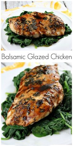 Simple pan-cooked chicken recipe with a delicious glaze. Ingredients Four (or larger) boneless, skinless chicken breasts teaspoons dried thyme (or 2 Pan Cooked Chicken, How To Cook Chicken, Grilling Recipes, Cooking Recipes, Healthy Recipes, Healthy Dinners, Cooking Ideas, Keto Recipes, Balsamic Glazed Chicken