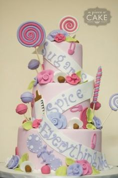 Perfect for a little girl, Sugar and Spice and Everything Nice Cake