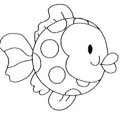 Childrens Fish coloring page - Free Printable Coloring Pages Applique Templates, Applique Patterns, Quilt Patterns, Applique Ideas, Free Printable Coloring Pages, Free Coloring Pages, Coloring Books, Motifs D'appliques, Fish Coloring Page