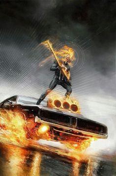 Universal Heroes eBid Store - It's all about comics. - Marvel : Ghost Rider on eBid United Kingdom - Page 1 Marvel Comics, Marvel Comic Universe, Comics Universe, Marvel Art, Marvel Heroes, Captain Marvel, Ghost Rider Wallpaper, Spirit Of Vengeance, Ghost Rider Marvel