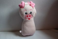 Free Embroidery Design - ITH Pig Stuffie