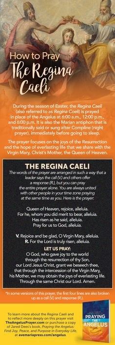 Does prayer make your kids smile? Jared Dees offers a fun way to pray the Regina Caeli with your family. Religion Catolica, Catholic Religion, Catholic Saints, Night Prayer, Prayer Times, My Prayer, Roman Catholic Prayers, Catholic Quotes, Christian Prayers