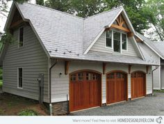 20 Traditional Architecture Inspired Detached Garages A garage is a must to any home, especially those who have cars or automobiles. There are those who opted for a detached garage, because it has its Garage Plans With Loft, Garage Loft, Garage Ideas, Garage Workshop, Dream Garage, Car Garage, Garage Bar, Garage Shop, Garages