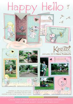 Kaszazz January 2018 New Products & Workshops! Contact me for more details or book into a workshop. Little Birdie, January 2018, I Card, Card Ideas, Finding Yourself, Workshop, Gallery Wall, Happy Birthday, Book