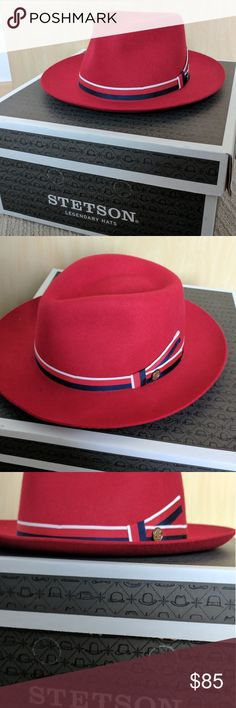 Stetson Aviatrix (Agent Carter) hat. NWOT IN BOX Red, Stetson Aviatrix, as seen on Agent Carter. NWOT,in Stetson box, size: Large Stetson Accessories Hats