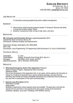 07/08/2015· sample resume for computer science fresh graduate. Computer Science Resume Sample Objective