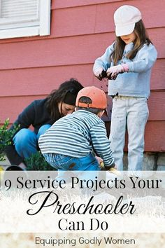 Just because your kids are still little doesn't mean they're too little to serve. Here are 9 projects even your preschooler can do.