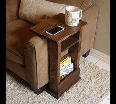 Półka stolik kawowy podłokietnik drewniany - WoodDreams - Półki