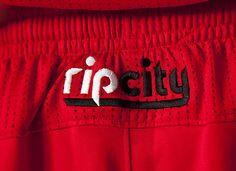 'ripcity' logo found on the back of the player shorts Portland Trailblazers NBA