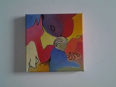 "NoraH van Boreen ""impressie"" olieverf 20 x 20 cm."
