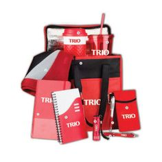 Stock TRIO Perfect 10 kit in Red and Blue – Southwest Tennessee Community College, Upward Bound, 8/6/2014 #TRIO http://proformatrioideas.com