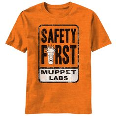 Safety First Tee brown