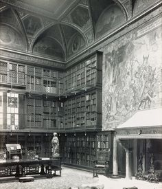 The library in the home of JP Morgan which was designed by Charles McKim between 1902 and 1906. The house was the first with electric lighting in NYC and it was installed personally by Thomas Edison.