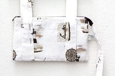 OCT: Memo board sailor white lighthouse fabric
