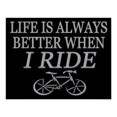 Love cycling and my road bike!
