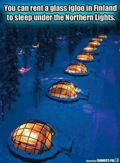 Igloo under northern lights