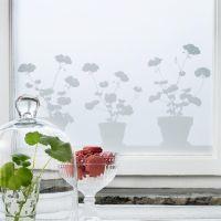 Pelargon fönsterfilm - 48x120 cm - Siluett Frost