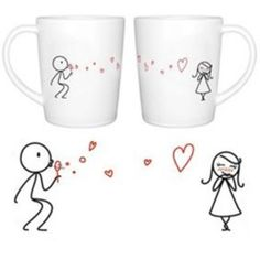 his and her coffee mug idea