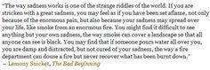 -Lemony Snicket, The Bad Beginning