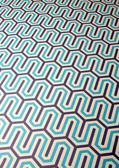 1973's Navy/Blue geometric pattern wrapping paper