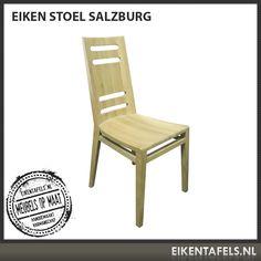Door de gestroomlijnde vormgeving zit onze eiken stoel Salzburg niet alleen comfortabel, maar is hij ook prachtig om te zien. Door de gaten in de rugleuning is de stoel eenvoudig te verplaatsen. Combineer deze eiken stoel met een van onze eiken tafels en u krijgt een ware blikvanger in uw interieur. De afwerking kunt u precies aanpassen aan uw tafel. Mocht u af willen wijken van de standaard maat dan kunt u dit vermelden wanneer u een offerte aanvraagt. Outdoor Chairs, Outdoor Furniture, Outdoor Decor, Salzburg, Home Decor, Garden Chairs, Interior Design, Home Interior Design, Yard Furniture