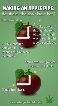 How to make an apple bong to smoke marijuana. Cannabis apple pipe. weed fruit pipe. Marijuana fruit bong.