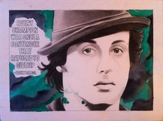 """Rocky Balboa, 11""""x15"""", Graphite and Watercolor on BFK rives paper, 2013"""