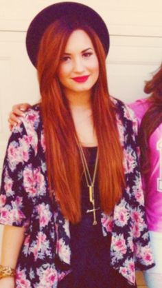Demi lovato's red hair color. Loveeeee