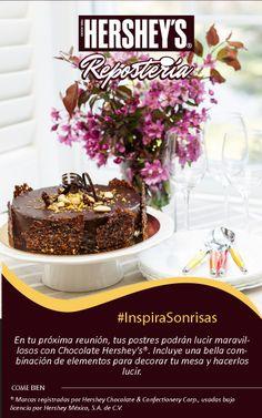 #InspiraSonrisas todos los días con Chocolate Hershey's®. #Hersheys #Chocolate #Repostería #Postres #Receta #DIY #Bakery #Pastel