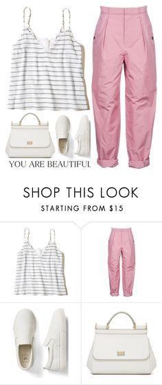 """Pink Pant"" by piedraandjesus on Polyvore featuring moda, Hollister Co., Bottega Veneta, Gap y Dolce&Gabbana"
