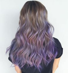 Lavender+Balayage+For+Long+Light+Brown+Hair